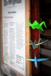 Hiding #origamigraffiti at Samurai Bento.  Submitted by Sara.